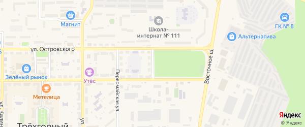 Восточная улица на карте Трехгорного с номерами домов