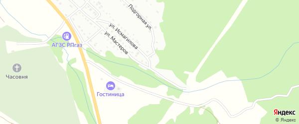 Подгорная улица на карте Белорецка с номерами домов