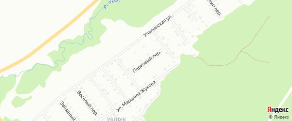 Парковый переулок на карте Белорецка с номерами домов