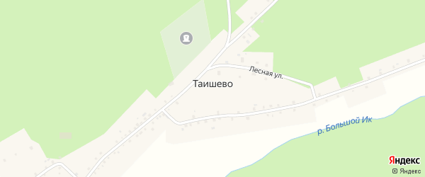 Улица Заки Валиди на карте деревни Таишево с номерами домов