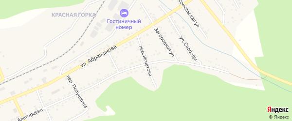 Переулок Игнатова на карте Юрюзани с номерами домов