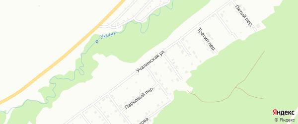 Учалинская улица на карте Белорецка с номерами домов