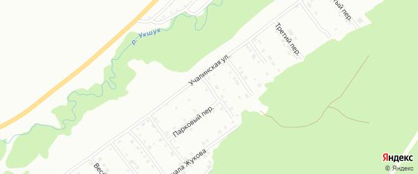 Дальний переулок на карте Белорецка с номерами домов