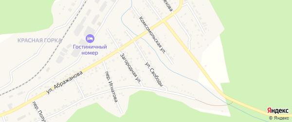 Улица Свободы на карте Юрюзани с номерами домов