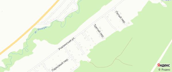 Второй переулок на карте Белорецка с номерами домов