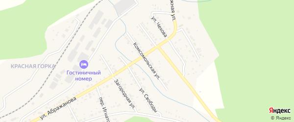 Комсомольская улица на карте Юрюзани с номерами домов