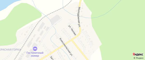 Улица Чехова на карте Юрюзани с номерами домов