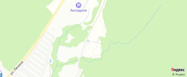 Сосновый сад на карте Белорецка с номерами домов