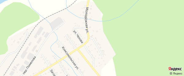 Молодежная улица на карте Юрюзани с номерами домов