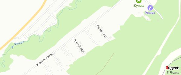 Четвертый переулок на карте Белорецка с номерами домов