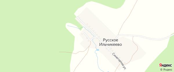 Заречная улица на карте деревни Русское Ильчикеево с номерами домов