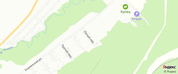 Пятый переулок на карте Белорецка с номерами домов