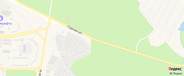 Горная улица на карте Трехгорного с номерами домов