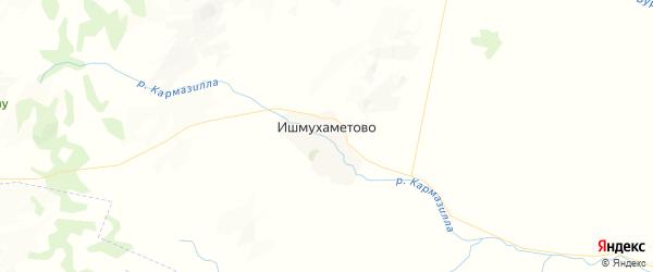 Карта Ишмухаметовского сельсовета республики Башкортостан с районами, улицами и номерами домов
