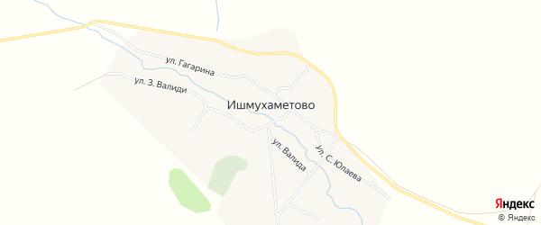 Карта села Ишмухаметово в Башкортостане с улицами и номерами домов