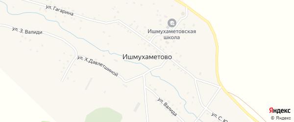 Улица Гагарина на карте села Ишмухаметово с номерами домов