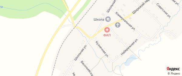 Кузнечная улица на карте села Тюбеляса с номерами домов
