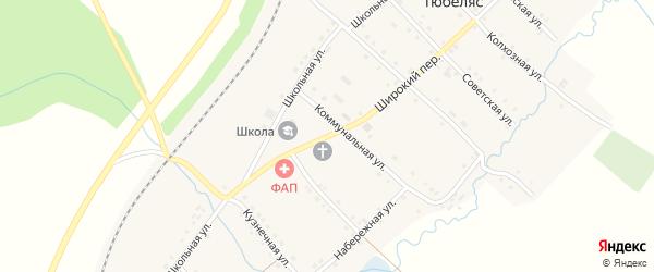 Школьная улица на карте села Тюбеляса с номерами домов