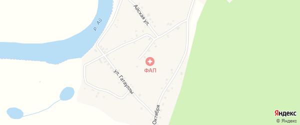 Нагорная улица на карте деревни Старомухаметово с номерами домов
