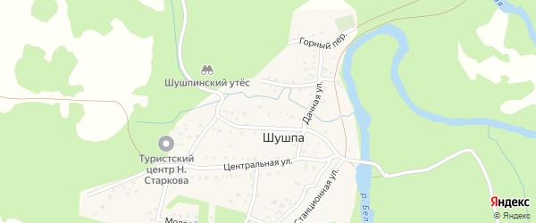 Журавлиная улица на карте деревни Шушпы с номерами домов