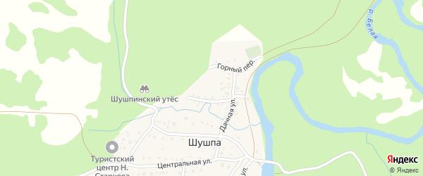 Речной переулок на карте деревни Шушпы с номерами домов