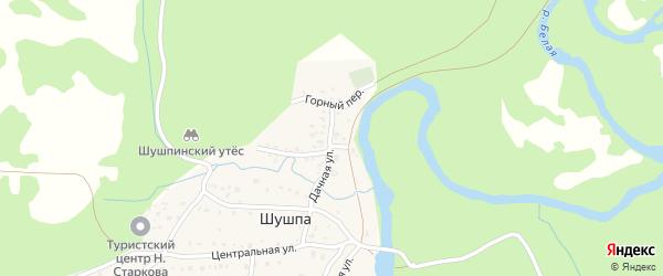 Дачная улица на карте деревни Шушпы с номерами домов
