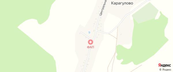Улица Чишма на карте деревни Карагулово с номерами домов