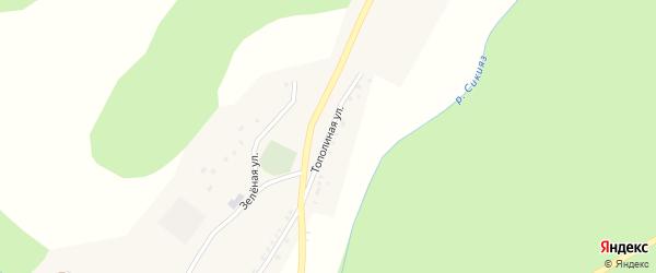 Тополиная улица на карте деревни Баш-Ильчикеево с номерами домов