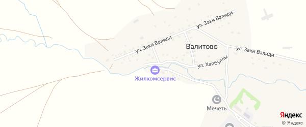 Переулок Гатауллы Хазрет на карте деревни Валитово с номерами домов