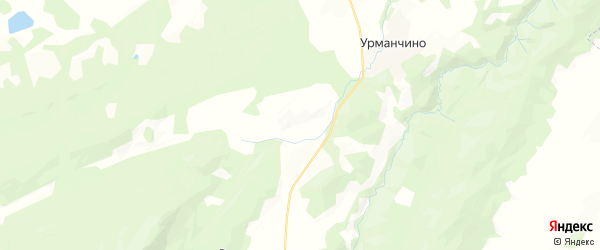 Карта Терменевского сельсовета республики Башкортостан с районами, улицами и номерами домов