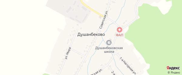 Нагорная 2-я улица на карте села Душанбеково с номерами домов