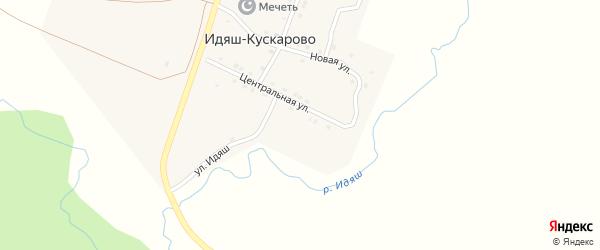 Молодежная улица на карте деревни Идяш-Кускарово с номерами домов