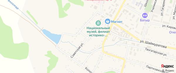 Советская улица на карте села Аскарово с номерами домов