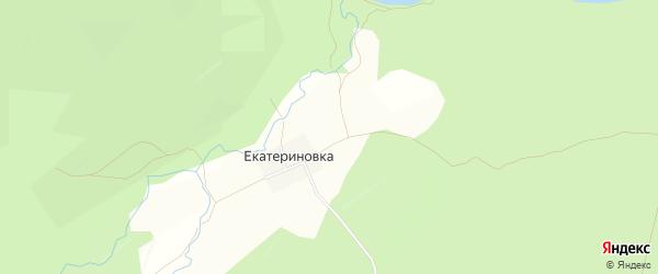 Карта села Екатериновки в Челябинской области с улицами и номерами домов