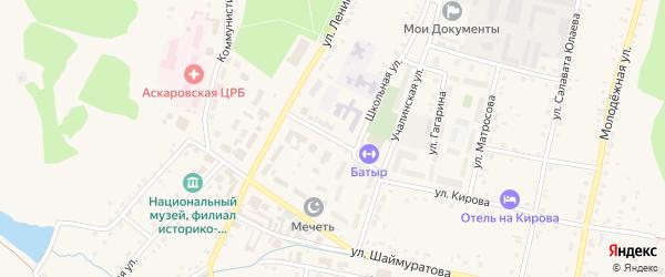 Учалинская улица на карте села Аскарово с номерами домов