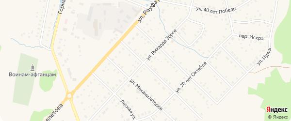 Улица Рихарда Зорге на карте села Аскарово с номерами домов