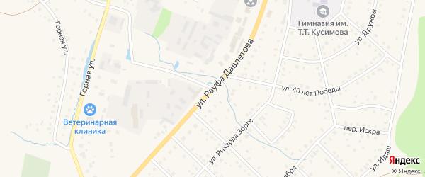 Улица Рауфа Давлетова на карте села Аскарово с номерами домов