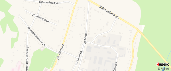 Улица Мира на карте села Аскарово с номерами домов