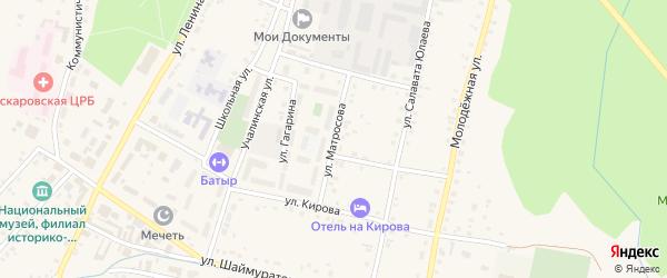 Улица Матросова на карте села Аскарово с номерами домов