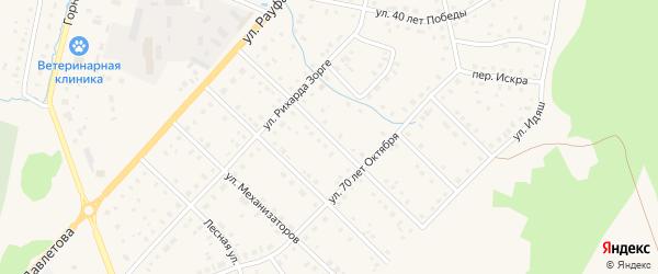 Улица Строителей на карте села Аскарово с номерами домов