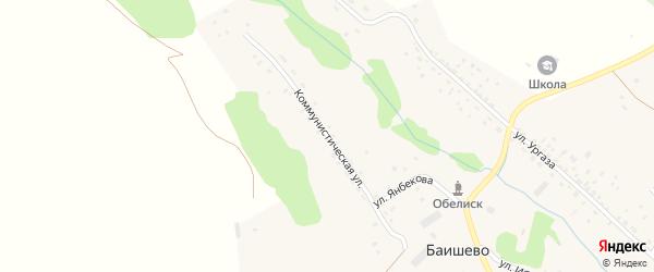 Коммунистическая улица на карте деревни Баишево с номерами домов