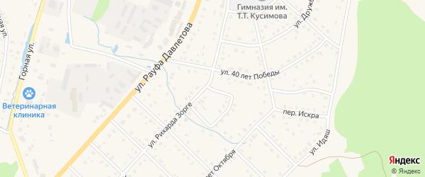 Улица Искра на карте села Аскарово с номерами домов