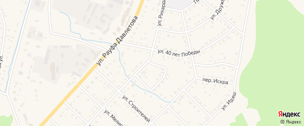 Переулок Искра на карте села Аскарово с номерами домов