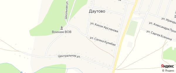 Школьная улица на карте деревни Даутово с номерами домов