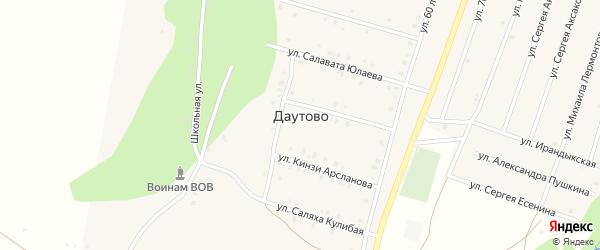 Кизильская улица на карте деревни Даутово с номерами домов