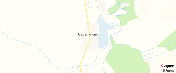 Карта деревни Сарагулово в Башкортостане с улицами и номерами домов