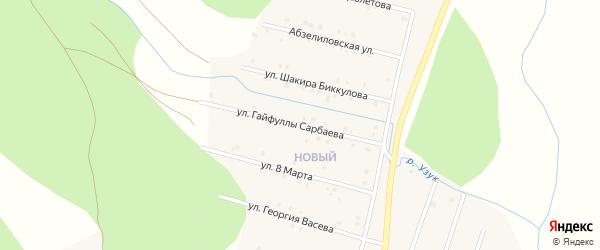 Улица 8 Марта на карте деревни Даутово с номерами домов