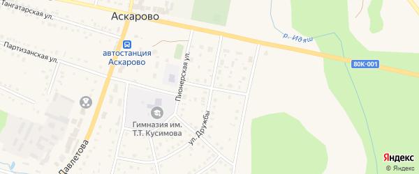 Улица Тагира Кусимова на карте села Аскарово с номерами домов