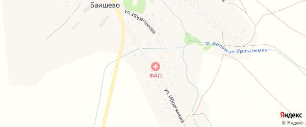 Улица Ибрагимова на карте деревни Баишево с номерами домов
