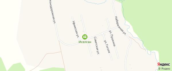 Пионерская улица на карте села Верхнеаршинского с номерами домов
